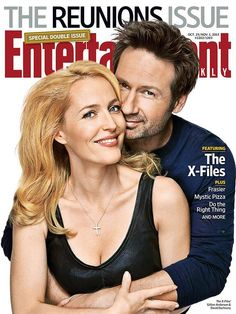 """Daivd Duchovny and Gillian Anderson on Entertainment Weekly's """"Reunions"""" Cover"""