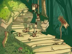 #art #painting #forest #green #reference #steps #landscape #character