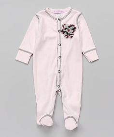 Look what I found on #zulily! Baby Pink Petal Footie- Infant #zulilyfinds