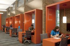 """Team Booths"" at Odegaard Undergraduate Library, University of Washington"