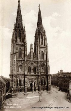 Dom, Alter, Cathedral, Building, Travel, Stone Path, Regensburg, Vintage Photos, Diary Book