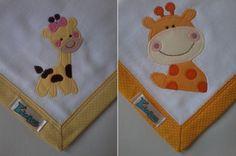 Kit Fralda de Boca com 02 unidades em tecido duplo (04 camadas para melhor absorção) 100% algodão com patch apliqué e bainha em tecido.    *As fraldinhas também podem ser personalizadas escolhendo o tema e a cor do tecido para montar o kit.