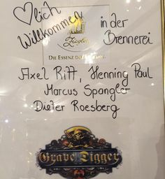 """a warm welcome for the """"barrel-fill-up"""" #event at the #brennereiziegler last week. #axelritt #the_real_ironfinger #gravedigger #party #whisky #whiskey #sınglemalt #sınglemaltwhiskey #sınglemaltwhisky #barrel #freudenberg #distillery #framus #warwick"""