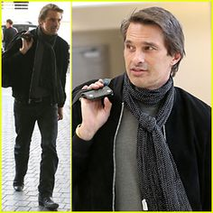 Olivier Martinez Shows Off His European Style at LAX Airport!