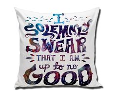 Amazon.com: I Solemnly Swear that I am Up To No Good Harry Potter galaxy Custom Pillow 20X20 ONE SIDE: Home & Kitchen