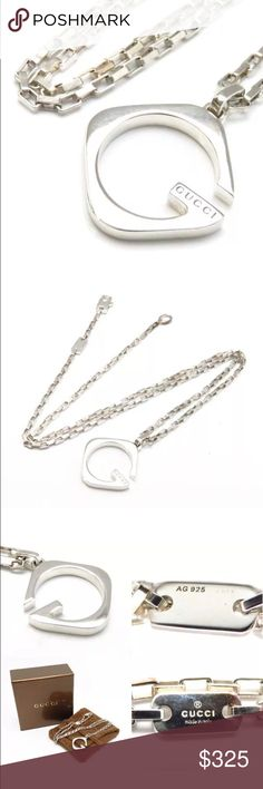 241b648bd09 Small scuffs and scratches not noticeable. Add class and style with this  super cute Gucci necklace. Box and pouch included Gucci Jewelry Necklaces