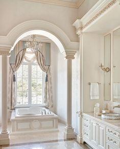 The Do This, Get That Guide On Dream Bathrooms Master Baths Layout - homemisuwur Dream Bathrooms, Dream Rooms, Beautiful Bathrooms, White Bathrooms, Luxury Bathrooms, Dream Home Design, Home Interior Design, Luxury Interior, Mediterranean Design