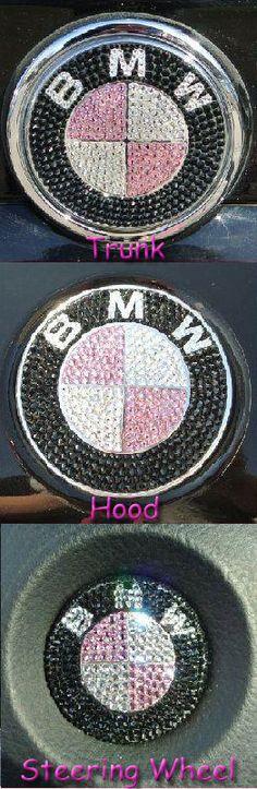 Bling Custom Handmade BMW Set of Emblems With 100 by IceMyWorld, $250.00