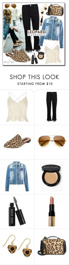 """""""Leopard!"""" by diane1234 ❤ liked on Polyvore featuring River Island, Maje, Steven, Sans Souci, Bobbi Brown Cosmetics, Betsey Johnson and McQ by Alexander McQueen"""