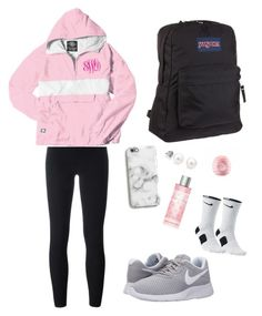 #1||sporty&chill outfit for school by kajoy3 on Polyvore featuring polyvore, fashion, style, adidas Originals, NIKE, JanSport, Harper & Blake, Eos, Victoria's Secret and clothing