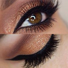 PERFECT bronze eyeshadow ! this is one of my favorite colors to do .. i absolutely love this :-))