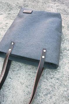 Sapwood kabelka / tmavě šedá / kůže, kanvas
