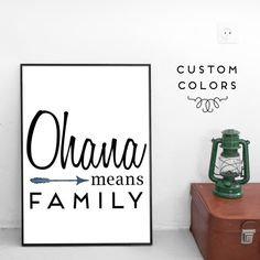 Ohana Means Family Lilo and Stitch Art Print by CaptureWonderss