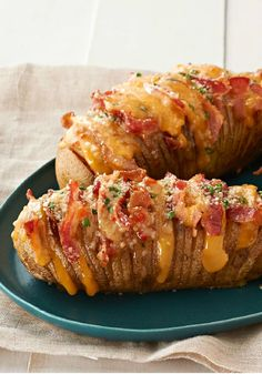 Cheesy Bacon Hasselback Potatoes – Hasselback potatoes always look great on a plate. This cheesy version, made with bacon, cheddar cheese, and fresh chives, is sure to be a new family favorite!