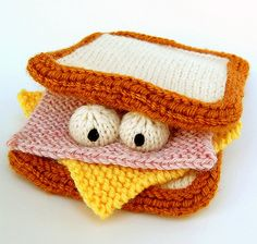 Sammich Amigurumi Sandwich Plush Toy Knitting by cheezombie, $4.00
