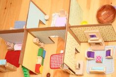 another DIY recycled cardboard dollhouse