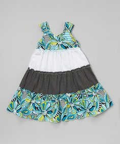Love this Blue Floral Tiered Dress - Toddler & Girls on #zulily! #zulilyfinds. I love the colors/sg