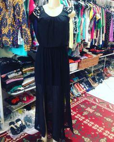 Vestido longo #Zara chiquérrimo com duas fendas  #brechocamarimtododianovidade  #brecho
