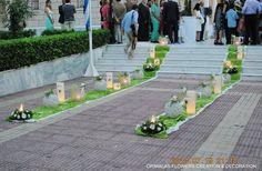 στολισμός γάμου στην Κηφισιά Wedding Centerpieces, Sidewalk, Awesome, Poster, Side Walkway, Walkway, Billboard, Walkways, Wedding Bouquets
