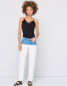 Pull&Bear - mujer - ropa - jeans - jeans boyfriend tie dye - azul clar - 09686323-I2016