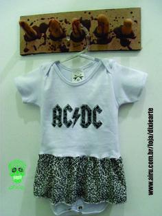 Body Saia ACDC  www.airu.com.br/loja/dixiearte