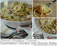 Queensland Chicken and Shrimp Pasta Recipe {Outback Steakhouse Inspired}: Under The Table and Dreaming: