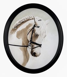 """barbara hangan """"Check-Mate With The White Horse""""  contemporary art • oil painting • the white collection  . . .  #fineart #painting #horsepainting"""