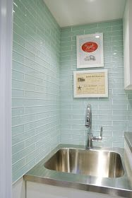 Stainless laundry sink and laundry inspiration {via: Rambling Renovators: Laundry Room Reveal Pt 1}
