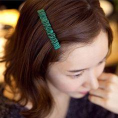 25301 Korean hairpin chiffon folds hairpin