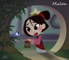 50 Chibis Disney : Mulan by princekido.deviantart.com on @deviantART
