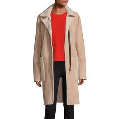 Rag & Bone Sora Reversible Shearling Coat ($958) ❤ liked on Polyvore featuring outerwear, coats, apparel & accessories, natural, reversible coat, rag bone coat, shearling coat, long sleeve coat and sheep fur coat