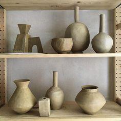 #studiomc #ceramics #pottery #greenware #drying #stoneware #bitsandpieces #studio