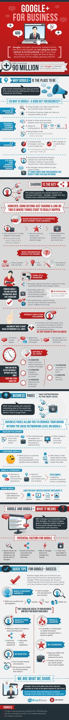 Google+ For Business - Infographic #socialmedia #sm #marketing