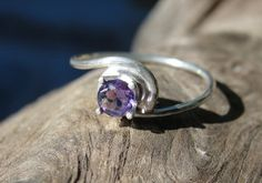 amethyst sterling silver promise ring