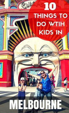 *10 Things To Do With Kids In Melbourne*  There are so many things to do with kids in Melbourne, Australia, where were we going to start? Well, this list a handy starting point which covers theme parks, beaches and day trips. Enjoy! Family Travel in Melbourne, Australia. Includes Luna Park, Bounce Inc, Playgrounds, Beaches, Shows, Escape Room, Eureka Skydeck, Day trips and more!