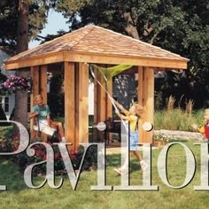 Easy-to-build storage locker. Use as a lawn mower shed, garden storage shed or both. Material list and plans available for this small outdoor storage shed! Deck With Pergola, Wooden Pergola, Pergola Plans, Diy Pergola, Pergola Kits, Pergola Ideas, Cheap Pergola, Patio Roof, Pergola Shade