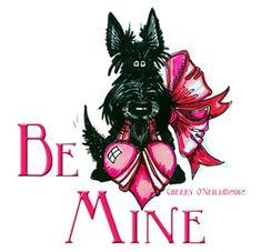 Scottish Terrier Be My Valentine