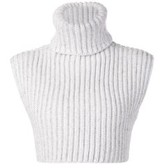 Baja East ribbed turtle neck crop top found on Polyvore featuring tops, sweaters, crop tops, shirts, white, white turtleneck, turtle neck sweater, white sweater, turtleneck shirt and cropped sweater