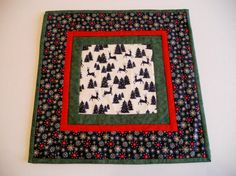 Holiday Quilted Table Topper Table Runner by ForgetMeNotQuilteds