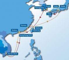 JTV SERVICE: Osaka - Kobe - Moji - Pusan - Kwangyang - Keelung - Taichung - Hong Kong - Ho Chi Minh - Shekou - Hong Kong - Xiamen - Keelung - Osaka