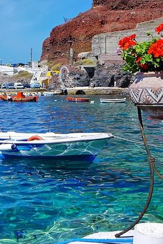 Ammoudi port, Santorini - Someday, I will go here. Places Around The World, Oh The Places You'll Go, Great Places, Places To Travel, Places To Visit, Around The Worlds, Santorini Island, Santorini Greece, Mykonos