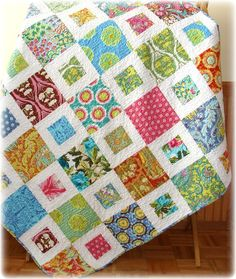 Soul Blossoms Summer Porch Quilt great design to showcase a variety of fabrics