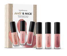 Lipstick Gift Set 3 Mini Gen Nude matte liquid lipsticks for the perfect nude lips every time.
