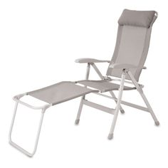 Klappstuhl »Camping« mit Beinauflage Outdoor Chairs, Outdoor Furniture, Outdoor Decor, Shops, Camping, Aluminium, Sun Lounger, Material, Aktiv