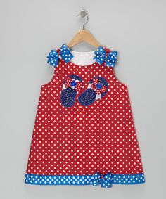 Take a look at this Red Polka Dot Flip-Flop Dress - Infant, Toddler & Girls on zulily today!