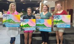 PaintFling private and public paint n sip paint nite party Oahu Hawaii Paint And Sip, The Masterpiece, Drawing Skills, Oahu Hawaii, Easy Paintings, Paint Party, Public, Night, Artwork