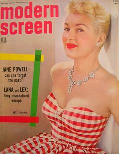 MODERN SCREEN magazine - Betty Grable