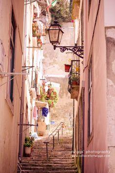 through the historical neighborhoods of lisbon
