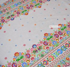 Amazing Russian design fabric by the yard, floral fabric design, retro ethnic fabric, cotton fabric for gypsy clothing - here it is the one of our brightest folk art prints.  Floral cotton fabric by the yard is a great for traditional clothing and not only!  Since we do make Russian clothing, we have a wide selection of cotton fabric in Slavic and Russian style sold by the yard. If you want to make your own Russian shirt or dance costume, have a look at our Russian print fabric assortment…