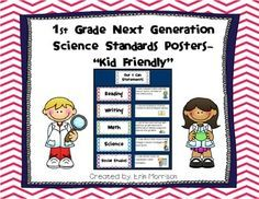 First Grade Next Generation Science Standards Posters